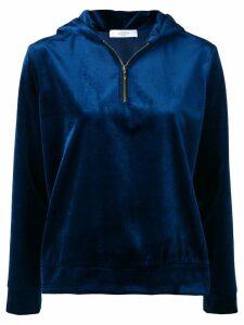 Roseanna velvet hooded sweater - Blue