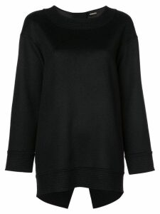 Adam Lippes ribbed knit detail sweatshirt - Black
