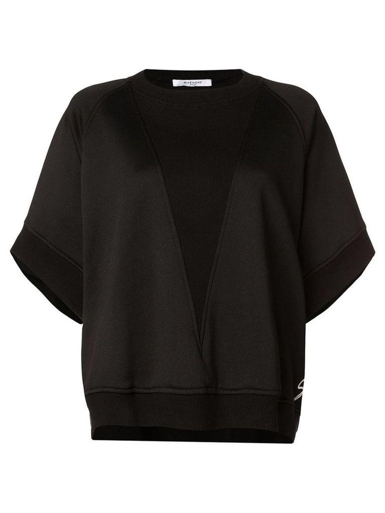 Givenchy oversized asymmetric sweatshirt - Black