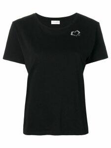 Saint Laurent heart logo print T-shirt - Black