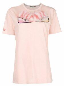 Fendi embellished crew neck T-shirt - Pink