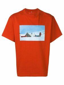 Acne Studios Acne Studios x Fjällräven print T-shirt - Orange