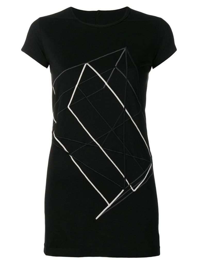 Rick Owens embroidered T-shirt - Black