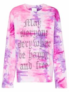 Ashish x browns May everyone everywhere be happy and free long sleeve
