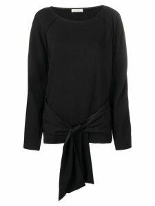 Nina Ricci sleeve tie waist top - Black