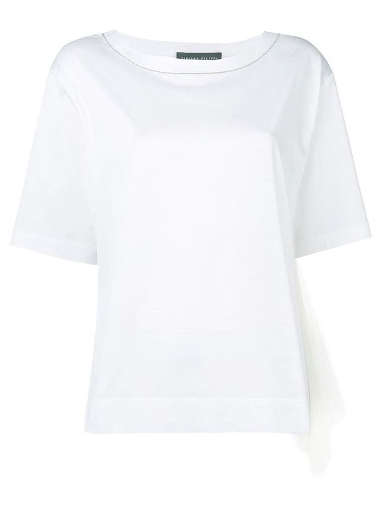Fabiana Filippi mesh side panel T-shirt - White