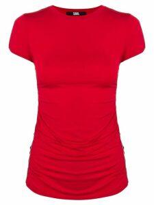 Karl Lagerfeld logo tape T-Shirt - Red