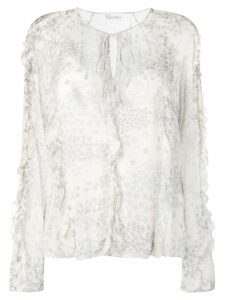 Red Valentino cascading stars printed top - Neutrals