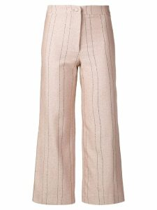 Roseanna pinstripe cropped trousers - Pink