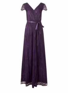 Womens **Showcase Purple Lace Maxi Dress- Purple, Purple