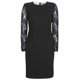 Lauren Ralph Lauren  LACE PANEL JERSEY DRESS  women's Dress in Black