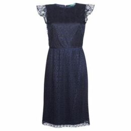 Lauren Ralph Lauren  LACE CAP SLEEVE DRESS  women's Dress in Blue