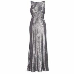 Lauren Ralph Lauren  SLEEVELESS EVENING DRESS GUNMETAL  women's Long Dress in Grey