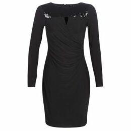 Lauren Ralph Lauren  SEQUINED YOKE JERSEY DRESS  women's Dress in Black