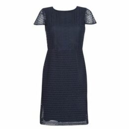 Lauren Ralph Lauren  NAVY SHORT SLEEVE DAY DRESS  women's Dress in Blue