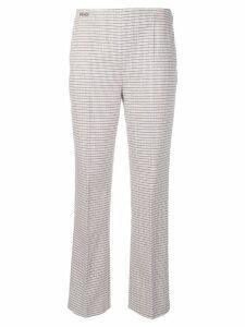 Fendi micro check cigarette trousers - Pink