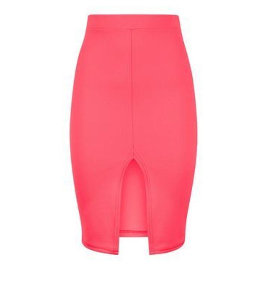 Carpe Diem Bright Pink Midi Skirt New Look