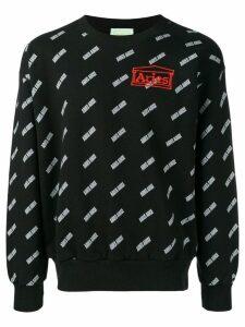Aries logo embroidered sweatshirt - Black