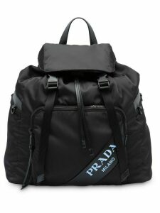 Prada technical logo backpack - Black