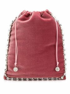 Ca & Lou embellished drawstring clutch - Pink