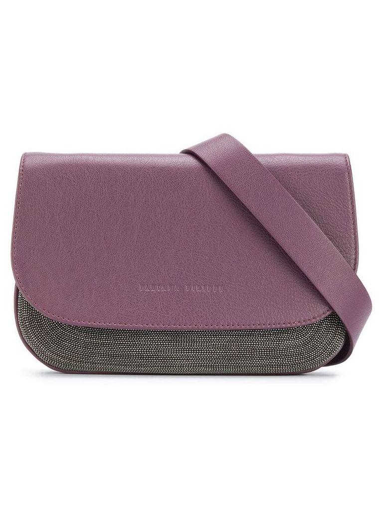 Fabiana Filippi foldover top mini bag - Purple
