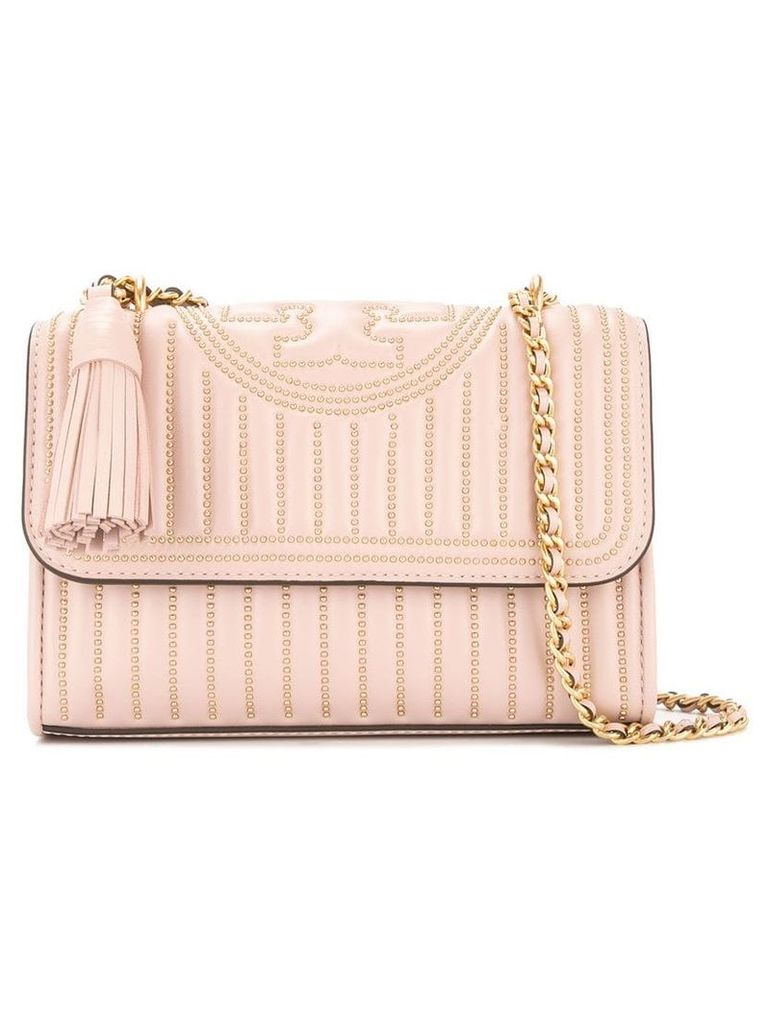 Tory Burch small Fleming studded shoulder bag - Pink