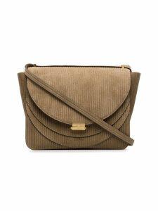 Wandler camel brown Luna corduroy shoulder bag