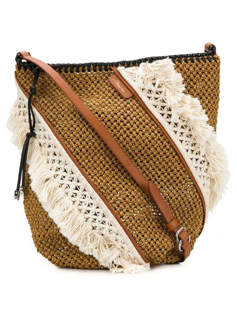 3.1 Phillip Lim fringe-trim shoulder bag - Brown