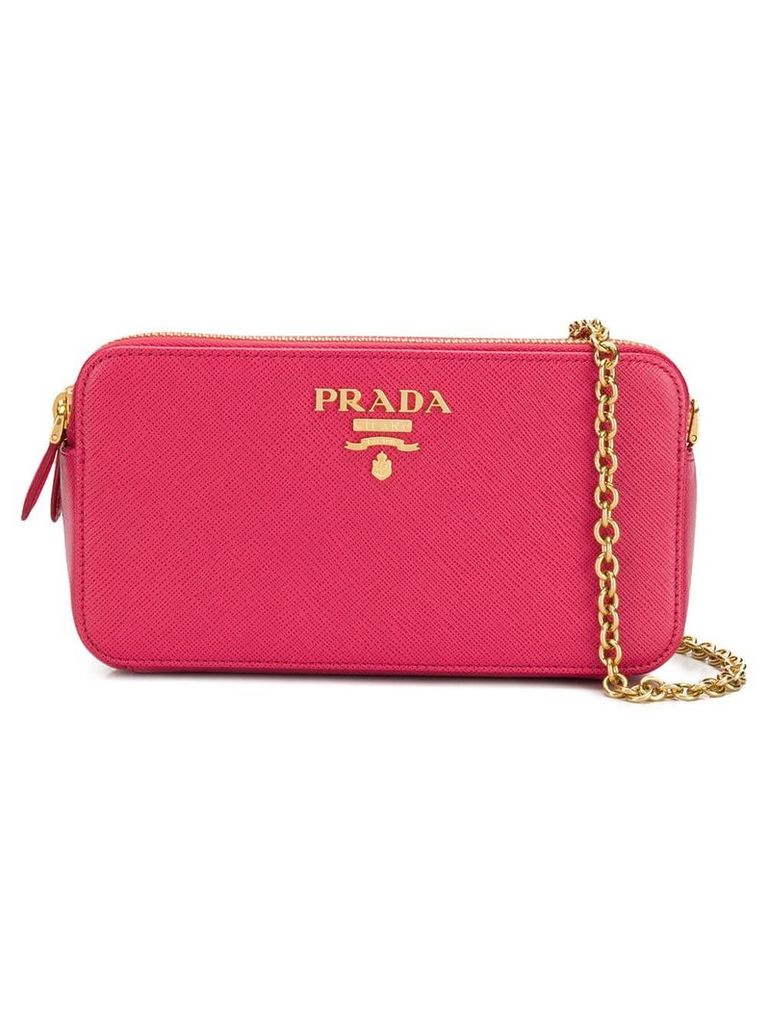 Prada Diagramme shoulder bag - Pink