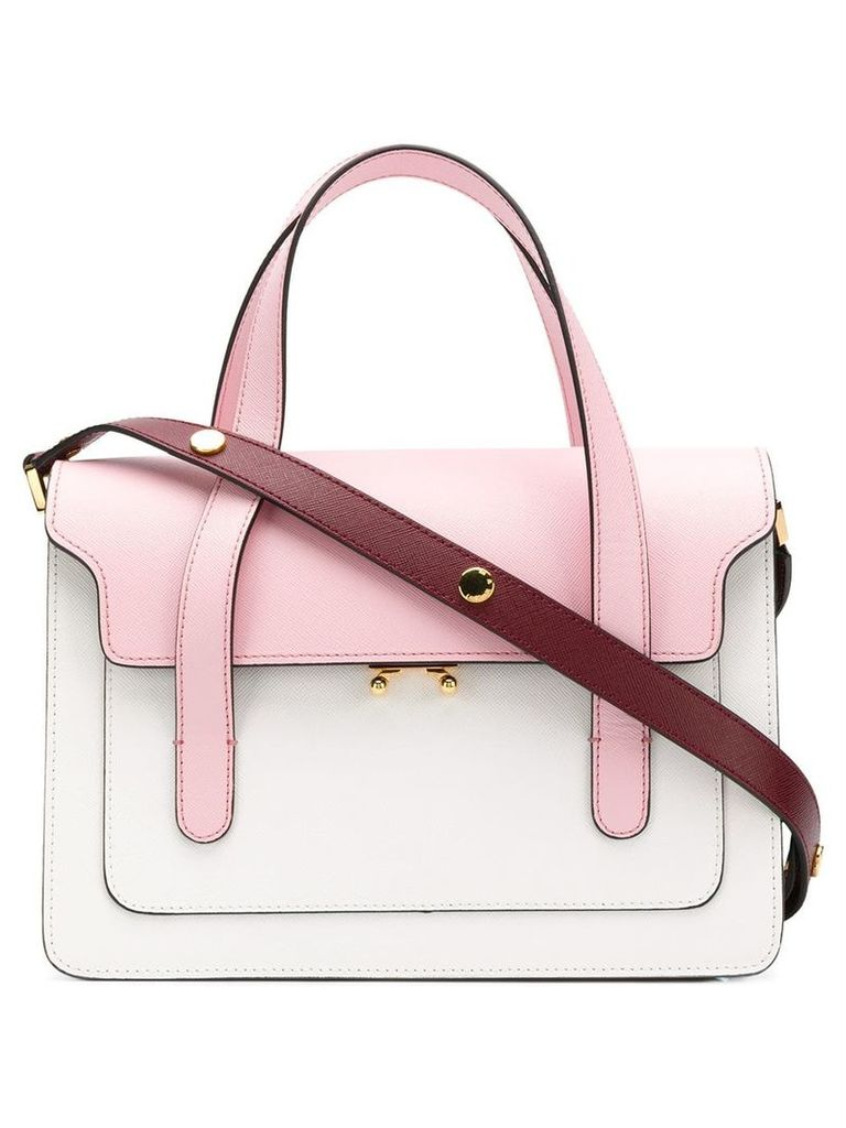 Marni colour block shoulder bag - Pink