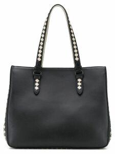Bottega Veneta contrast weave tote - Black