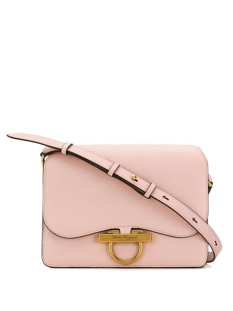 Salvatore Ferragamo Gancio flap shoulder bag - Pink