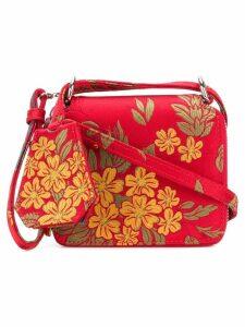 Marques'Almeida jacquard shoulder bag - Red