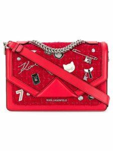 Karl Lagerfeld K/Klassik Pins shoulder bag - Red