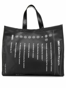 Mm6 Maison Margiela classic brand shopper bag - Black