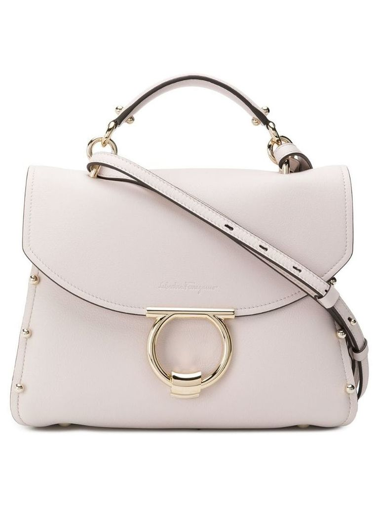 Salvatore Ferragamo Gancini top-handle tote - Neutrals
