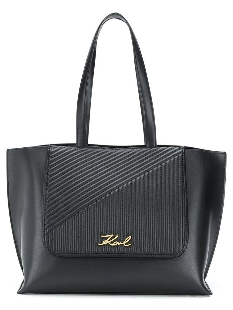 Karl Lagerfeld K/Signature quilted tote bag - Black