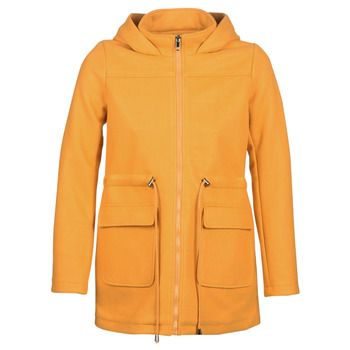Moony Mood  JANTO  women's Coat in Yellow