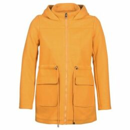 Moony Mood  JANTO  women's Coat in Yellow