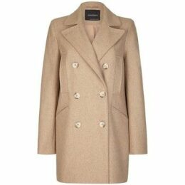 Anastasia  Women's Beige Wool Winter Pea Coat  women's Coat in Beige