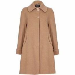 De La Creme  Swing Wool Cashmere Winter Coat  women's Coat in Beige