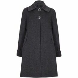 De La Creme  Swing Wool Cashmere Winter Coat  women's Coat in Grey