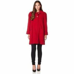 De La Creme  Swing Wool Cashmere Winter Coat  women's Coat in Red