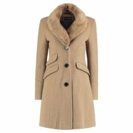De La Creme  Fitted Winter Coat  women's Coat in Beige
