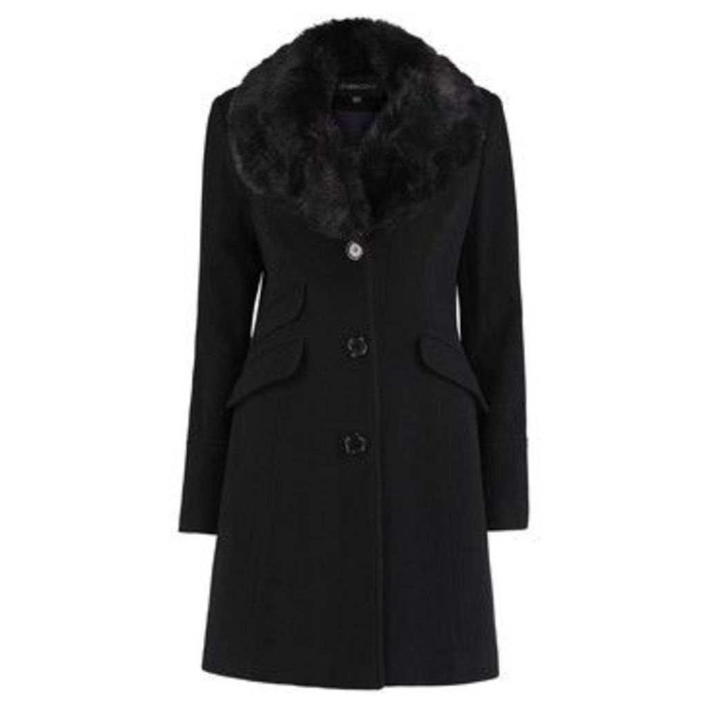 De La Creme  Fitted Winter Coat  women's Coat in Black