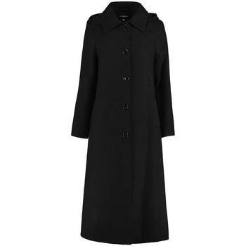 De La Creme  Long Detachable Hooded Winter Coat  women's Coat in Black