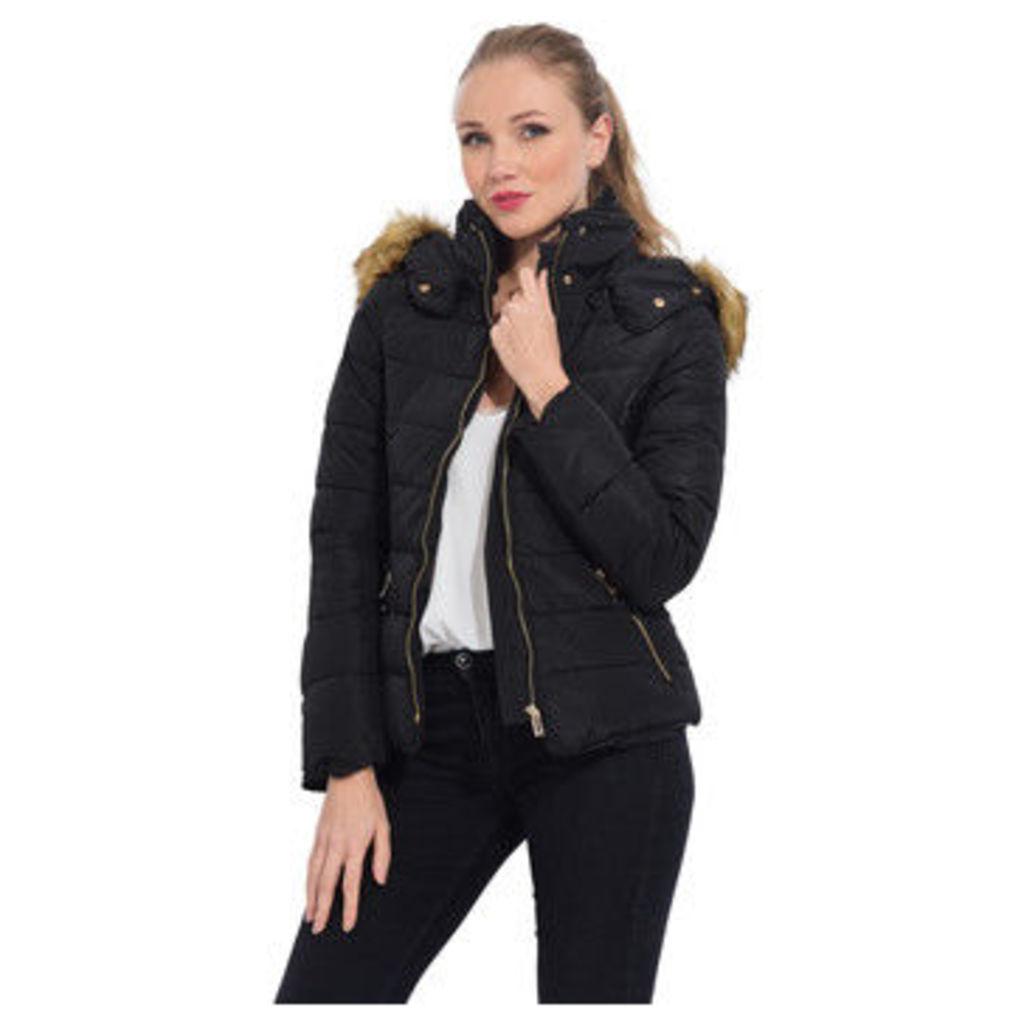 Cm  Short down jacket with hood  women's Jacket in Black