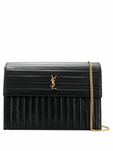 Saint Laurent structured YSL satchel bag - Black