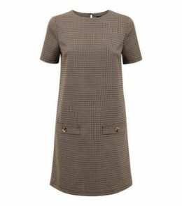 Brown Heritage Check Tunic Dress New Look