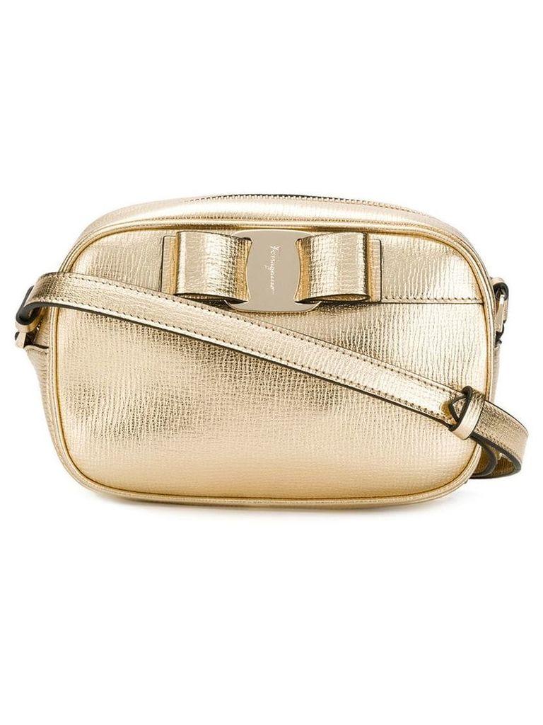 Salvatore Ferragamo Vara bow shoulder bag - Gold